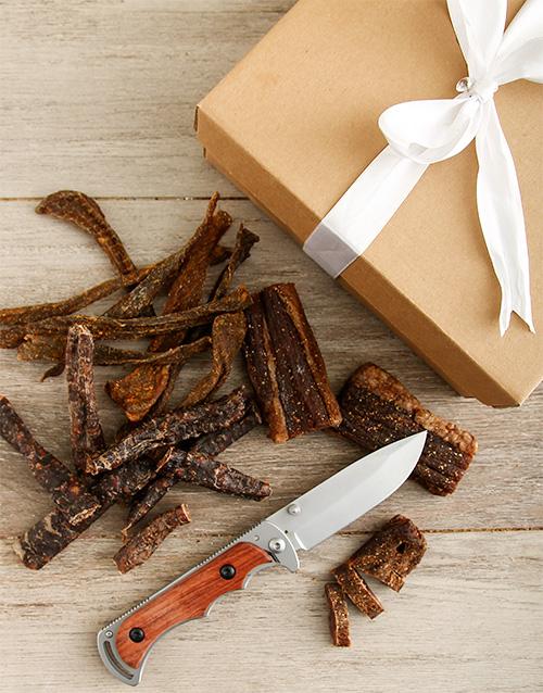 Biltong Gift Box & Biltong Knife