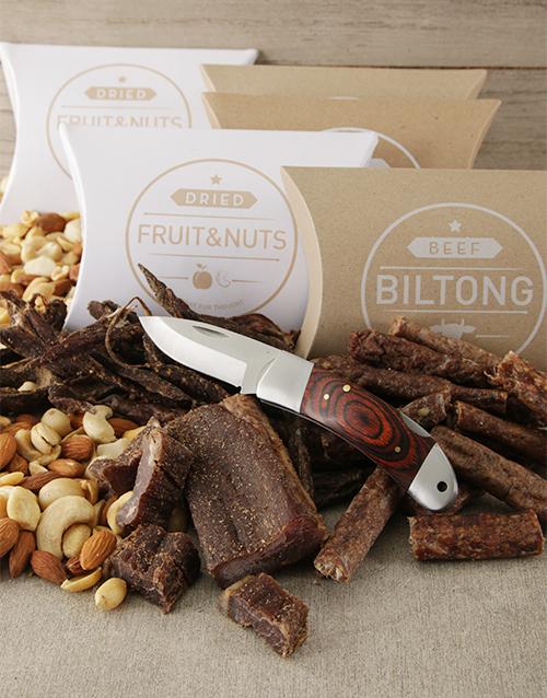 Snack Box Of Biltong And Nuts