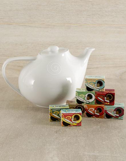 Carrol Boyes Swirl Teapot and Toni's Tea