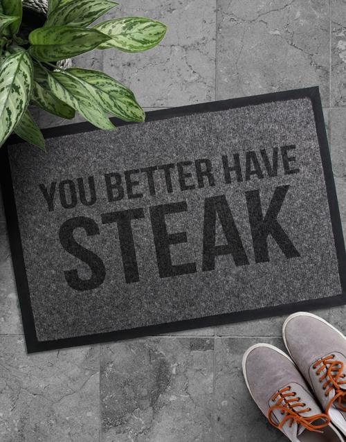 Better Have Steak Door mat