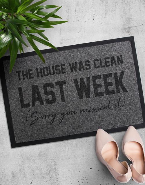 House Was Clean Door Mat