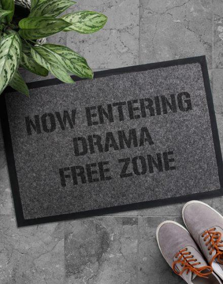Drama Free Zone Door mat