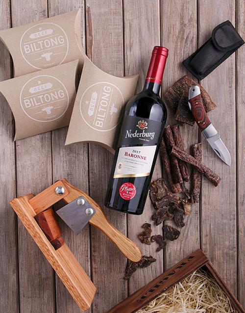 Red Wine & Biltong Essentials Crate