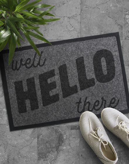 Well Hello There Door mat