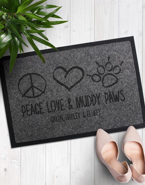 Personalised Muddy Paws Door Mat