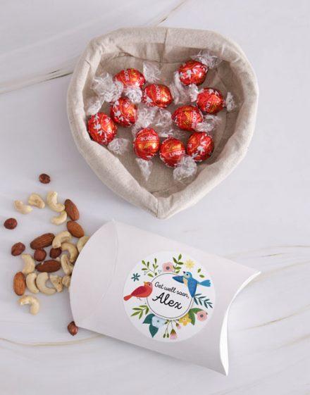 Personalised Get Well Nut Basket