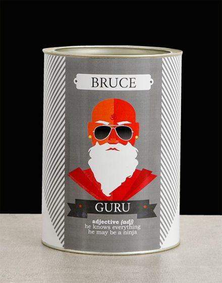 Guru Bro Bucket Personalised Gift