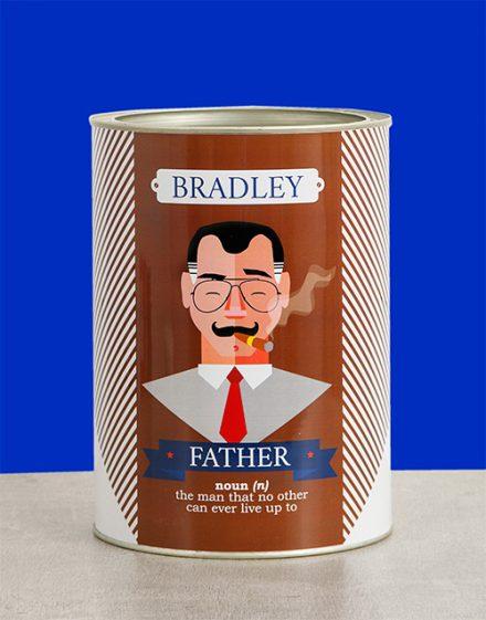 Father Bro Bucket Personalised Gift