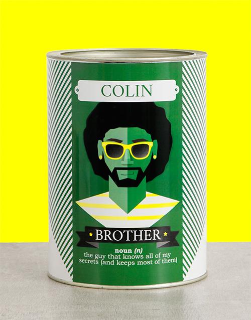 Brother Bro Bucket Personalised Gift
