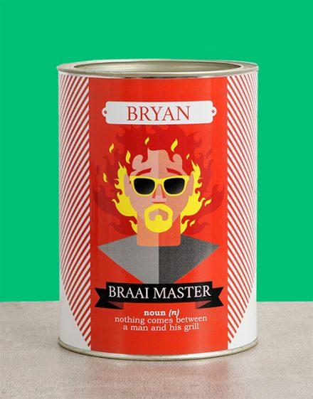 Braai Master Bro Bucket Personalised Gift