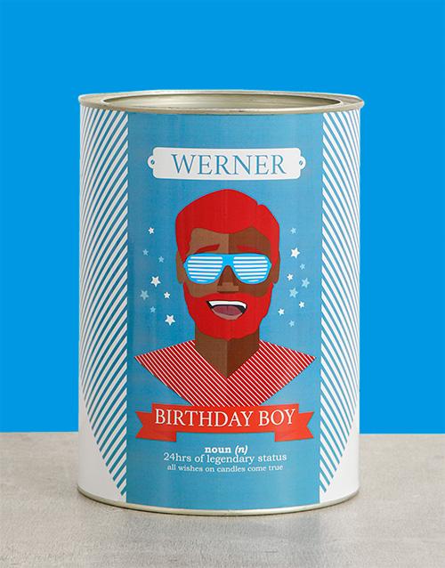 Birthday Boy Bro Bucket Personalised Gift