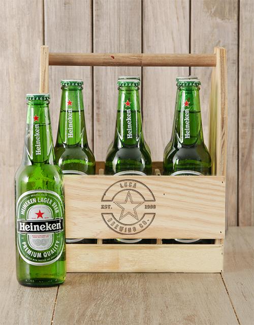 Star Heineken Beer Caddy Personalised Gift