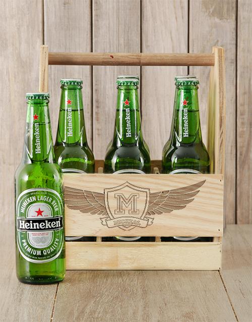 Wings Heineken Beer Caddy Personalised Gift