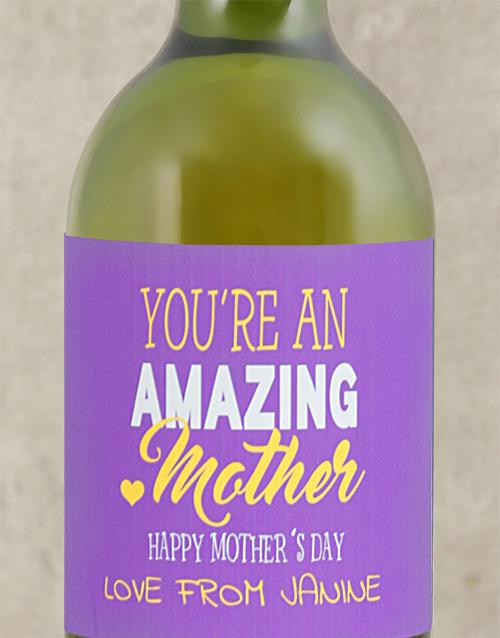 Amazing Mom Personalised Wine