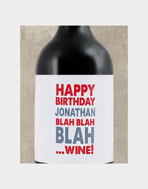 Birthday Blah Personalised Wine
