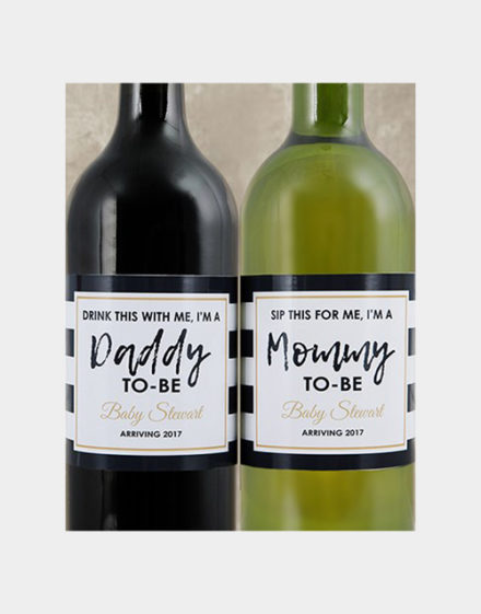Parents To Be Personalised Wine Duo