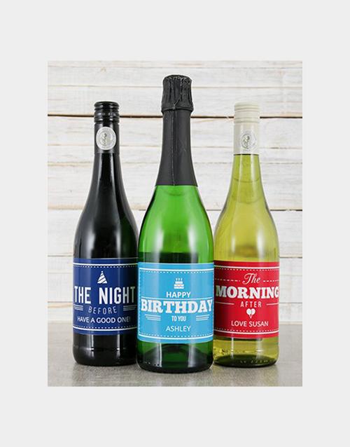 Birthday Personalised Wine Trio