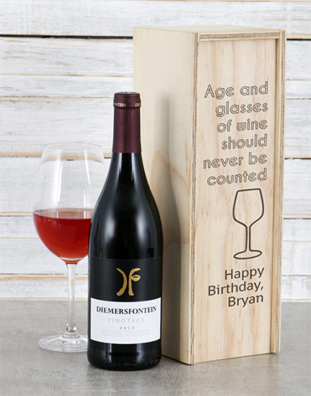 Age and Personalised Wine Crate