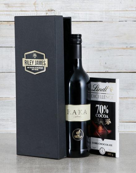 Raka Black Personalised Wine Box