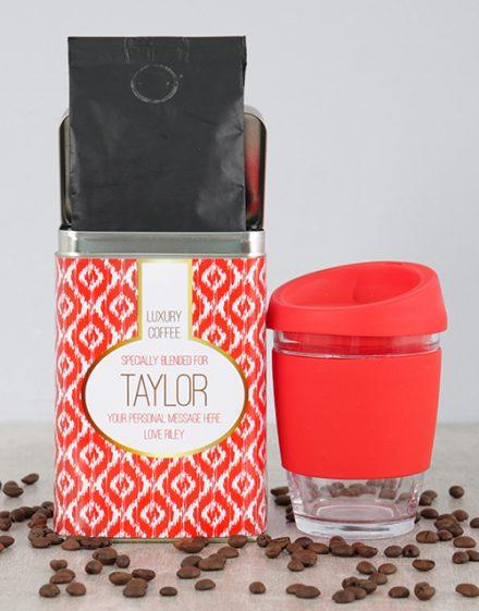 Firey Personalised Coffee Gift Tin