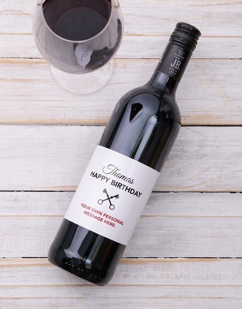 Vintage Birthday Personalised Wine