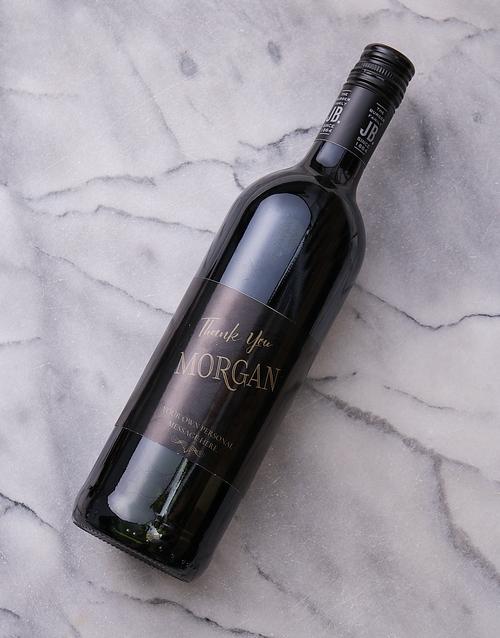 Vintage Thank You Personalised Wine