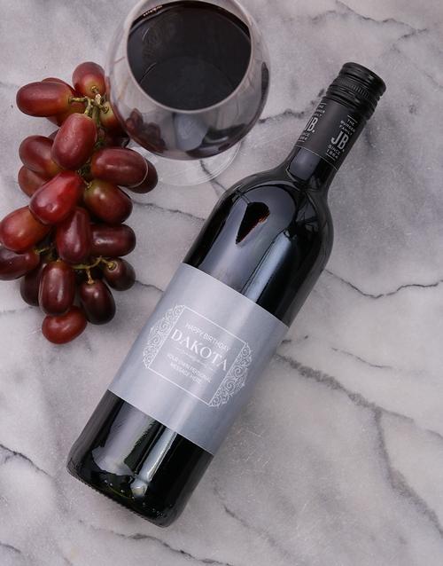 Vintage Scroll Personalised Wine