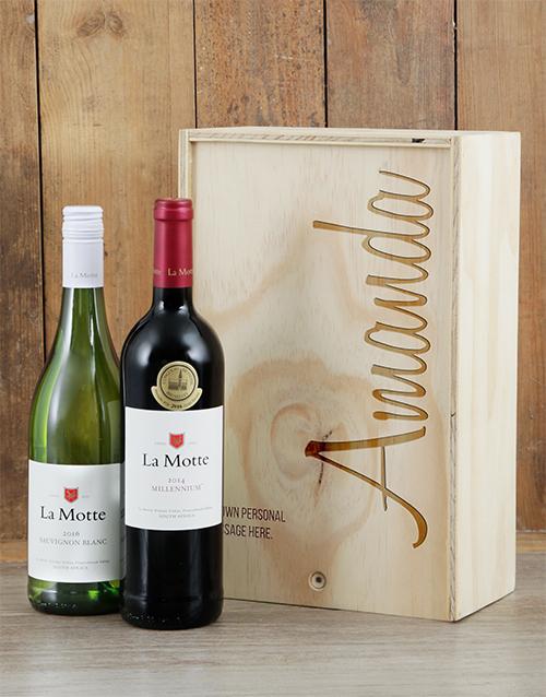 Double La Motte Personalised Wine Crate