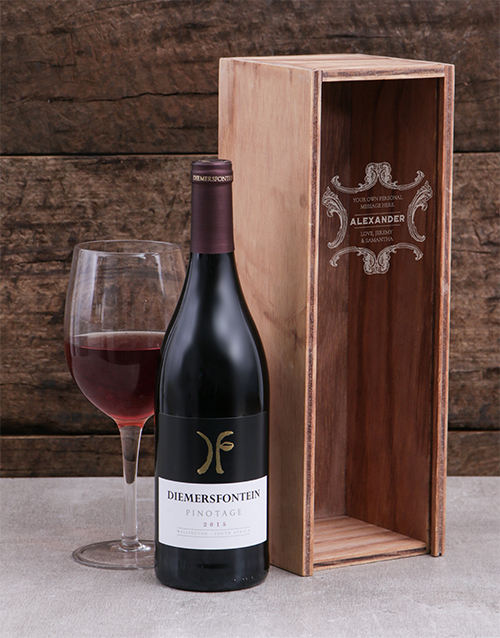 Classic Frame Personalised Wine Crate