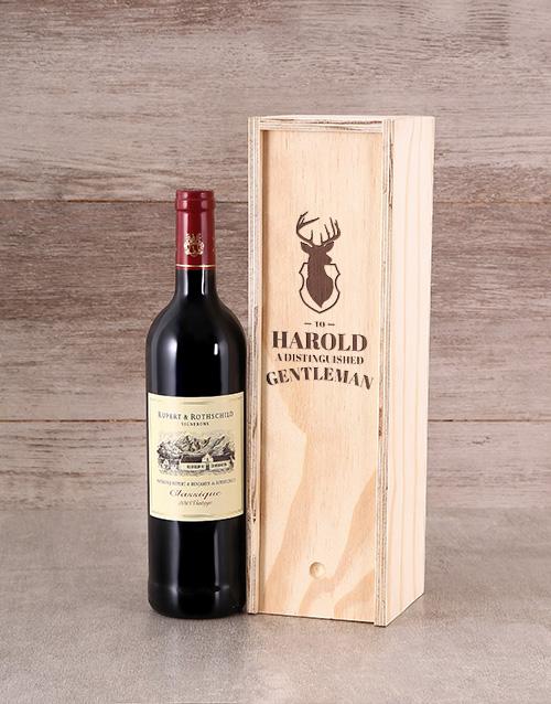 Gentleman Personalised Wine Crate