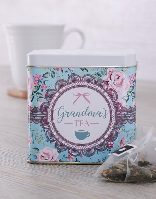 Personalised Tea Gift Tin for Grandma