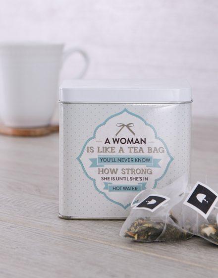 Strength Personalised Tea Gift Tin
