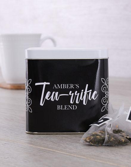 Personalised Tearrific Personalised Tea Gift Tin