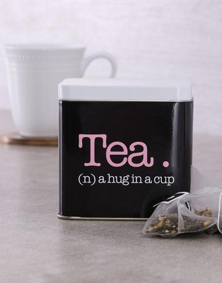 Hug Personalised Tea Gift Tin