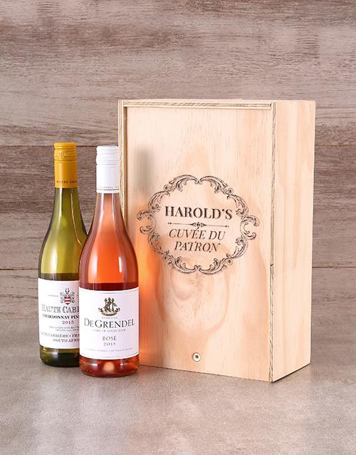 Cuvee Du Patron Personalised Wine Crate