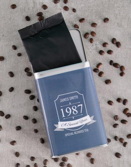 Birthday Personalised Coffee Gift Tin