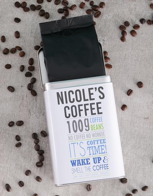 Generic Personalised Coffee Gift Tin