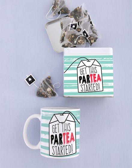 Birthday Mug and Personalised Tea Gift Tin Combo