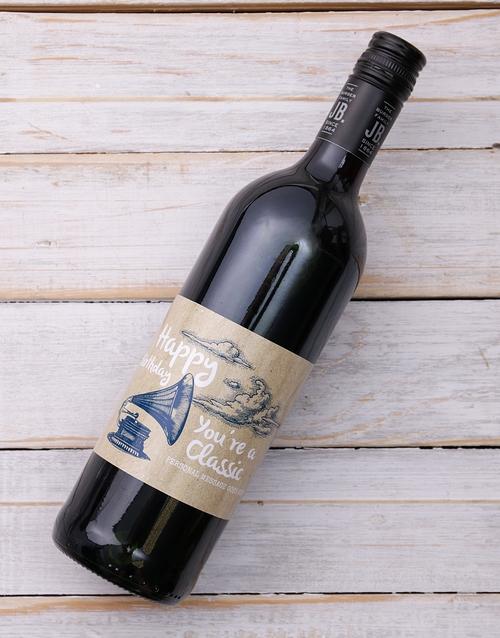 Classic Birthday Personalised Wine