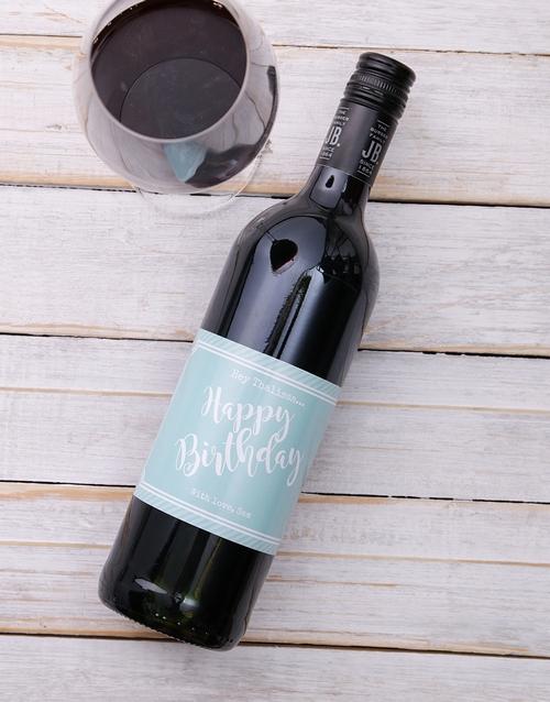 Happy Birthday Personalised Wine