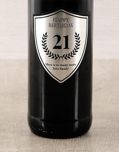 Platinum Birthday Personalised Wine