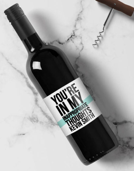 Inappropriate Personalised Wine