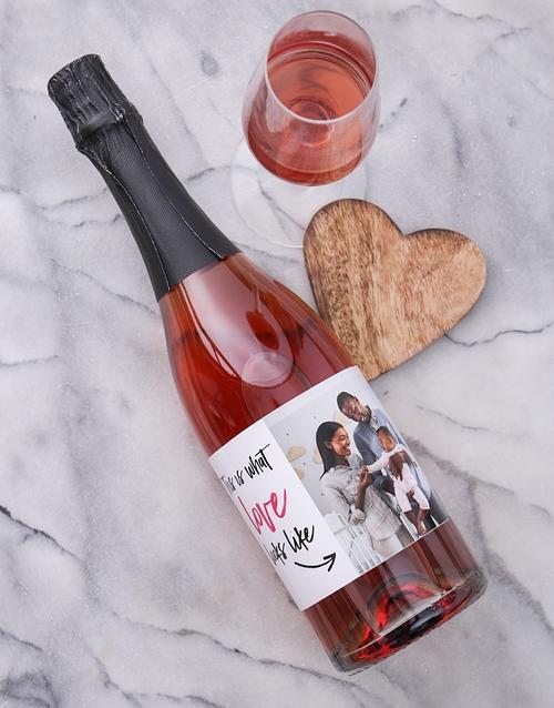 Look of Love Photo Personalised Wine