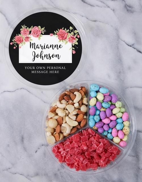 Personalised Blossom Fruit & Nut Tub