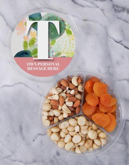 Personalised Botanical Fruit & Nut Tub