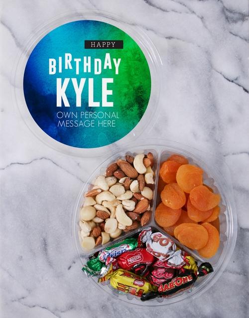 Personalised Gradient Fruit & Nut Tub