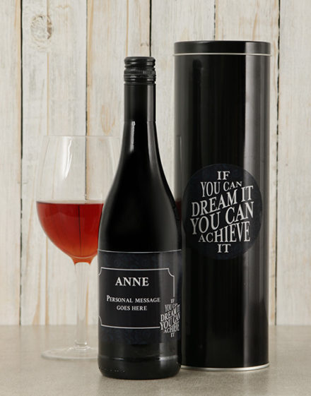 Dream It Personalised Wine Tin