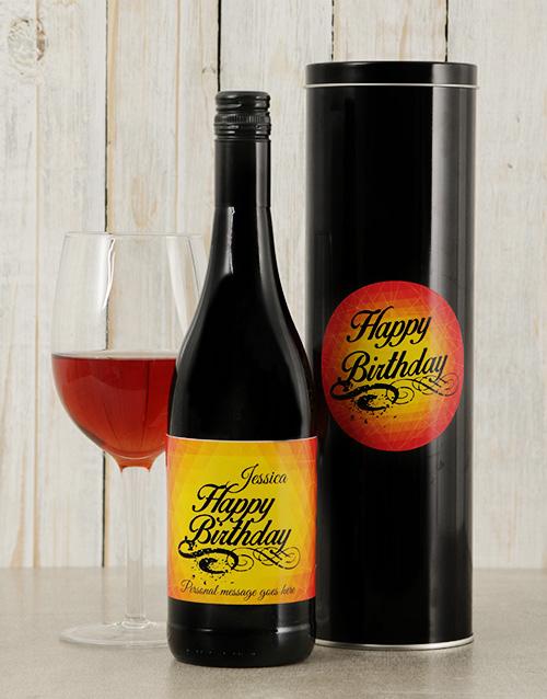 Birthday Glow Personalised Wine Tin