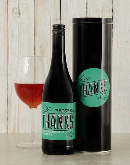 Thanks Personalised Wine Tin