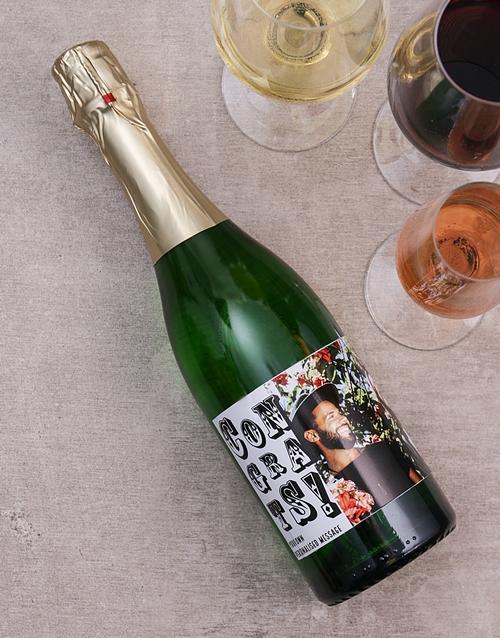 Congratulations Photo Personalised Wine